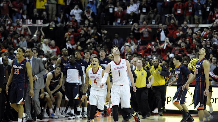 Maryland stuns No. 5 Virginia 75-69 in ACC finale
