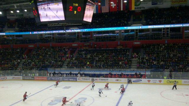 Here's your crowd shot for Canada vs. US. The majority of fans here, based on the concourse crowd are Russian. (Sunaya Sapurji)