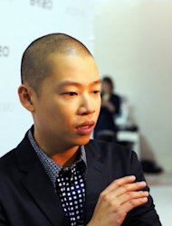 US designer Jason Wu speaks backstage after his show. Two legends of fashion photography came together in the mind of Wu on Friday when he sent out a spring-summer 2013 collection that encapsulated his vision of a strong yet sensual woman