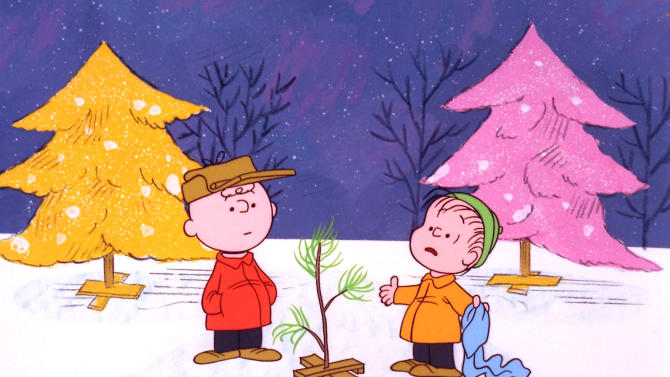 """FILE - In this file image originally provided by United Feature Syndicate Inc. VIA ABC TV, Charlie Brown and Linus appear in a scene from """"A Charlie Brown Christmas,"""" a television special based on the """"Peanuts"""" comic strip by Charles M. Schulz.   Charles Schulz' comic-strip and cartoon characters will star in their own animated film scheduled to hit theaters Nov. 25, 2015. (AP Photo/ABC,  1965 United Feature Syndicate Inc., File)  **NO SALES**    **MANDATORY CREDIT:  United Feature Syndicate Inc. **"""