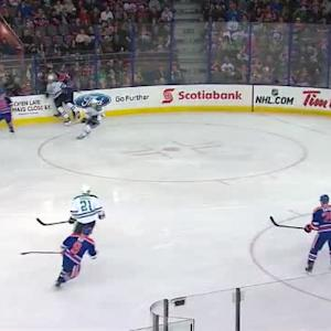 Keith Aulie Hit on Patrik Nemeth (02:16/1st)