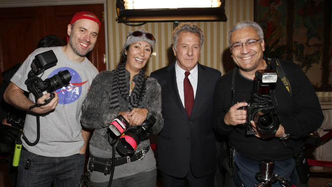 IMAGE DISTRIBUTED FOR AARP MAGAZINE - Dustin Hoffman poses with photographers at AARP The Magazine's 12th Annual Movies for Grownups Awards at The Peninsula Hotel on February 12, 2013 in Beverly Hills, California. (Photo by Todd Williamson/Invision for AARP Magazine/AP Images)