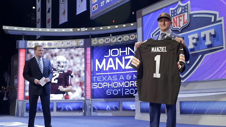 Johnny Manziel's fall ends when Cleveland Browns trade up to ta…