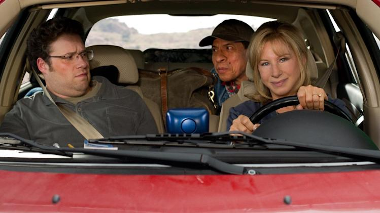 "This image released by Paramount Pictures shows Seth Rogen, left, Pedro Lopez and Barbra Streisand in a scene from ""The Guilt Trip."" (AP Photo/Paramount Pictures, Sam Emerson)"