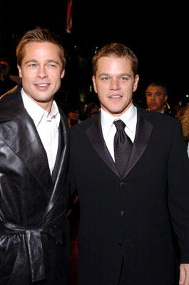 Premiere: Brad Pitt and Matt Damon at the Hollywood premiere of Warner Bros. Ocean's Twelve - 12/8/2004