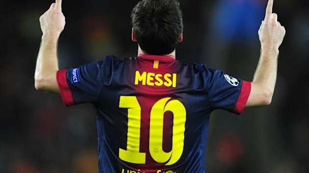 Lionel Messi, pictured, equalled Gerd Muller's record of 85 goals in a calendar year at Real Betis