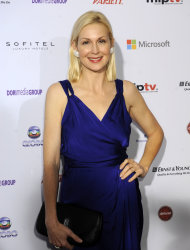 "Actress Kelly Rutherford from ""Gossip Girl,"" arrives for the 40th International Emmy Awards, Monday, Nov. 19, 2012 in New York. (AP Photo/Henny Ray Abrams)"