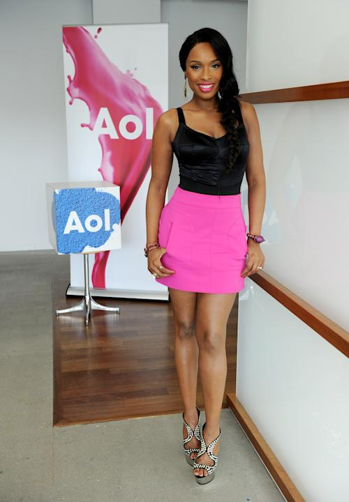 Jennifer Hudson in a Zara skirt