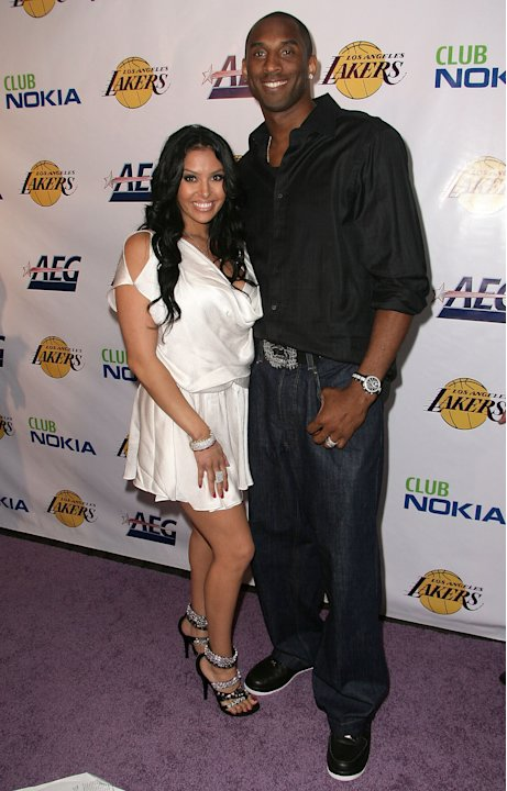Kobe Bryant at Lakers championship party