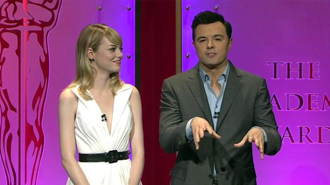 Full video: Oscar nominations announced by Seth MacFarlane, Emma Stone