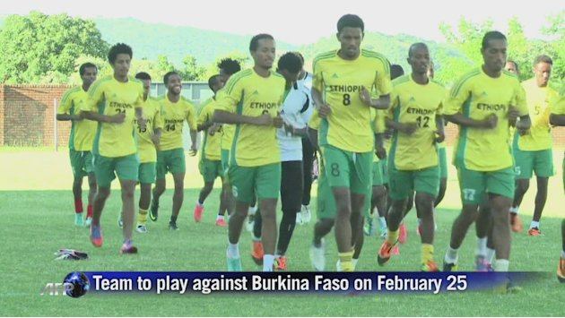 Ethiopia trains before match against Burkina Faso