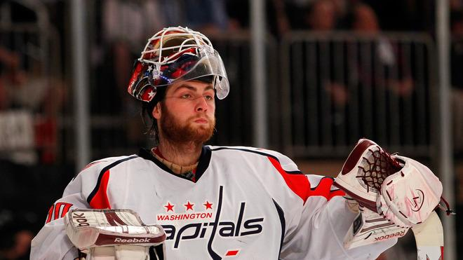 Goalie Braden Holtby #70 Of The Washington Capitals Looks On In The Second Dperiod Against The New York Rangers In Getty Images