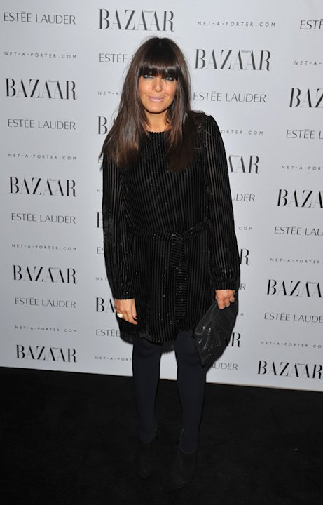 Claudia Winkleman went for all black too.