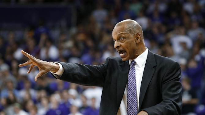 TCU coach Trent Johnson calls a play during the first half of an NCAA college basketball game against Kansas on Wednesday, Feb. 6, 2013, in Fort Worth, Texas. (AP Photo/Sharon Ellman)