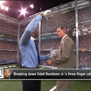 Breaking down New York Giants wide receiver Odell Beckham's catch