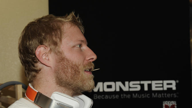 Alex Berg wears Inspiration headphones by Monster Products at the Fender Music lodge during the Sundance Film Festival on Monday, Jan. 21, 2013, in Park City, Utah. (Photo by Jack Dempsey/Invision for Fender/AP Images)