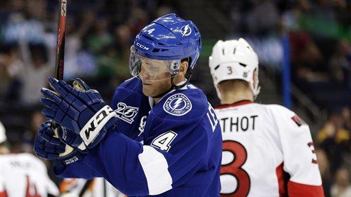 Stamkos scores 26th in Lightning win over Sens