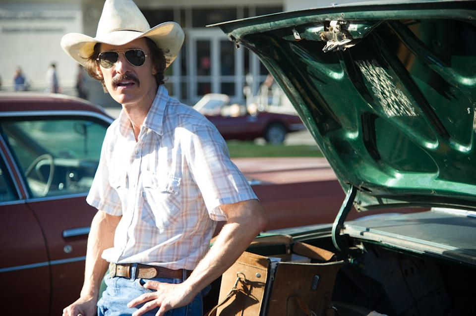 "This publicity image released by the Toronto International Film Festival shows Matthew McConaughey in a scene from ""Dallas Buyers Club,"" a film being showcased at the Toronto International Film Festival. (AP Photo/Toronto International Film Festival)"