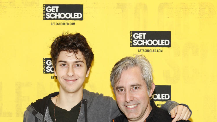 IMAGE DISTRIBUTED FOR GET SCHOOLED - Actor Nat Wolff and Director Paul Weitz of ADMISSION host the GET SCHOOLED special screening of ADMISSION and Q&A at the Bronx Validus Preparatory School on Wednesday, March, 6, 2013 in New York City, New York. (Photo by Amy Sussman/Invision for Get Schooled/AP Images)