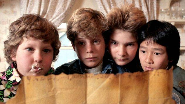 Sean Astin, Corey Feldman, Jeff Cohen and Jonathan Ke Quan in 'The Goonies' in 1985 -- Warner Bros