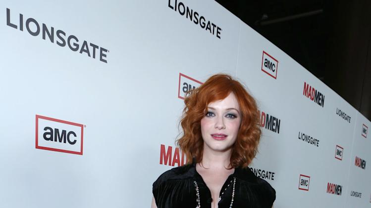 Christina Hendricks at the AMC Season 6 Premiere of Mad Men , on Wednesday, March, 20, 2013 in Los Angeles. (Photo by Alexandra Wyman/Invision for AMC/AP Images)