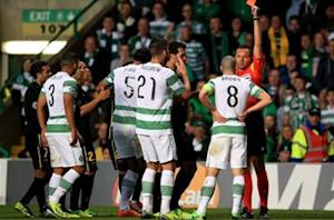 Celtic captain Brown owns up to red card in loss to Barcelona