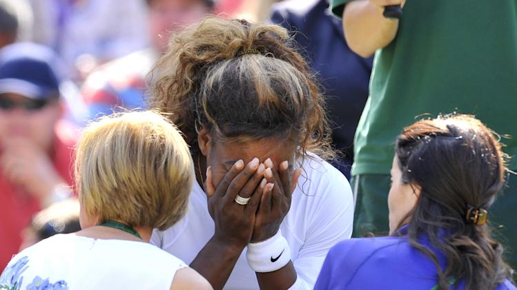 Serena Williams at WImbledon doubles