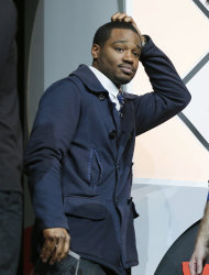 "Director and screenwriter Ryan Coogler reacts after accepting the U.S. Grand Jury Prize: Dramatic for ""Fruitvale"" during the 2013 Sundance Film Festival Awards Ceremony on Saturday, Jan. 26, 2013 in Park City, Utah. (Photo by Danny Moloshok/Invision/AP)"