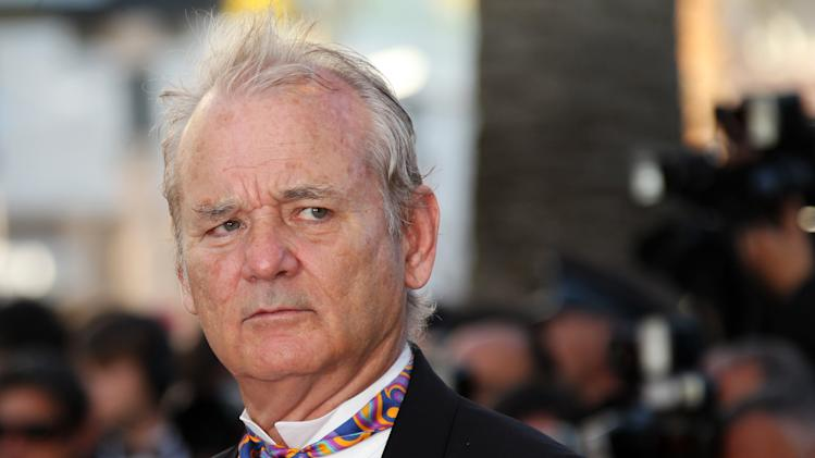 Actor Bill Murray arrives for the opening ceremony and screening of Moonrise Kingdom at the 65th international film festival, in Cannes, southern France, Wednesday, May 16, 2012. (AP Photo/Joel Ryan)
