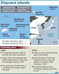 &lt;p&gt;Graphic on the disputed Senkaku/Diaoyu islands. Thousands of anti-Japanese demonstrators have mounted protests in cities across China over disputed islands in the East China Sea, a day after an attempt to storm Tokyo&#39;s embassy in the capital.&lt;/p&gt;