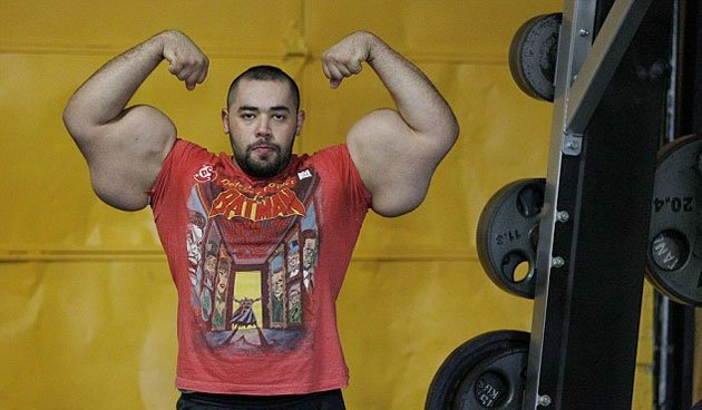 > Man With The World's Largest Biceps - Photo posted in The BX Gym - Health, Exercise, and Nutrition | Sign in and leave a comment below!