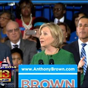 Hillary Clinton Rallies Voters For Anthony Brown In College Park