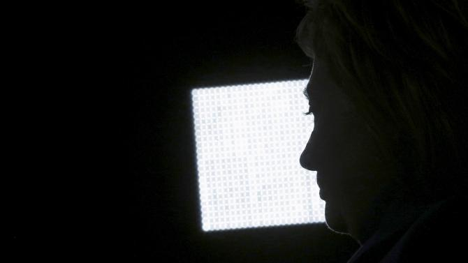 U.S. Democratic presidential candidate Hillary Clinton listens to a question during a campaign stop at the College for America at Southern New Hampshire University in Manchester