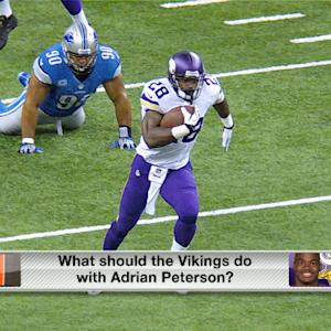 What should the Vikings do with Adrian Peterson?