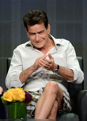 Charlie Sheen speaks onstage at the &#39;Anger Management&#39; panel during the FX portion of the 2012 Summer TCA Tour, Beverly Hills, on July 28, 2012 -- Getty Images