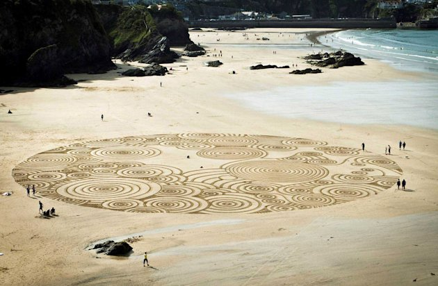Sand design in Cornwall
