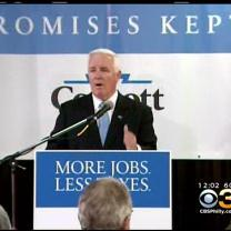 Governor Corbett Brings His Re-Election Campaign To Philadelphia