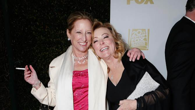 President of Production, Fox Searchlight Pictures Claudia Lewis, left, and President of Fox Searchlight Pictures Nancy Utley attend the Fox Golden Globes Party on Sunday, January 13, 2013, in Beverly Hills, Calif. (Photo by Todd Williamson/Invision for Fox Searchlight/AP Images)
