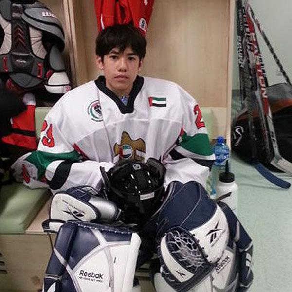 UAE goalie, 14, who gave up 60 goals in loss to Russia