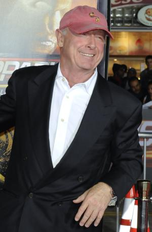 "CORRECTS WORD OFF IN SECOND SENTENCE -- FILE - In this Oct. 26, 2010 file photo, director Tony Scott arrives at the premiere of ""Unstoppable"" in Los Angeles. Authorities say Scott died after jumping off a bridge in Los Angeles on Sunday, Aug. 19, 2012. (AP Photo/Gus Ruelas, File)"