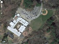 This satellite image provided by Google shows the Sandy Hook Elementary School in Newtown, Conn. A shooting at the school Friday, Dec. 14, 2012, left the gunman dead and at least one teacher wounded. (AP Photo/Google)