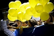 &lt;p&gt;Demonstrators hold posters and yellow balloons in Lisbon. Hundreds of doctors in white smocks took to the streets of the Portuguese capital Wednesday, the first day of a two-day nationwide strike over sweeping austerity cuts to the health budget.&lt;/p&gt;