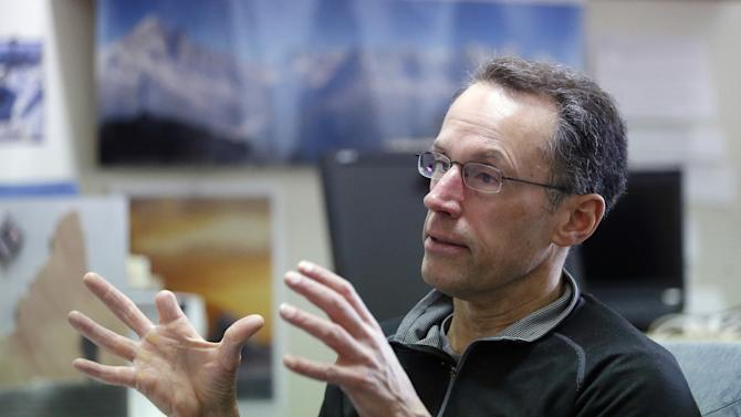"""In this Feb. 22, 2013 photo, Peter Metcalf, president and CEO of Salt Lake City-based Black Diamond Inc., speaks during an interview, in Holladay, Utah. The nomination of Sally Jewell, a mountain-climbing CEO, underscores the growing power and influence of outdoor recreation as an economic and political force. """"It's a total game-changer, a recognition of changes in how public lands are used,"""" said Metcalf, a maker of ski and climbing gear and apparel. """"Politics in Washington have finally caught up with reality."""" (AP Photo/Rick Bowmer)"""