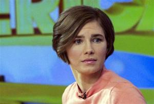 """Knox reacts while being interviewed on the set of ABC's """"Good Morning America"""" in New York"""