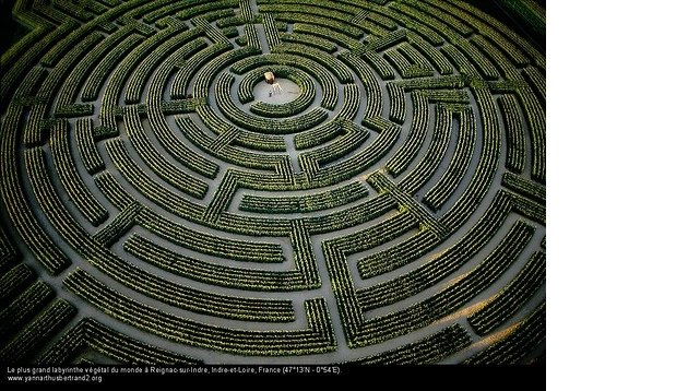 The largest plant maze in the world, at Reignac-sur-Indre