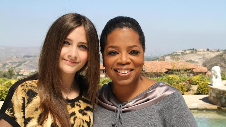 "This undated image released by Harpo, Inc. shows host Oprah Winfrey posing with Paris Jackson, daughter of the late pop icon Michael Jackson in Los Angeles. Winfrey interviewed Jackson for ""Oprah's Next Chapter,"" airing Sunday, June 10 at 9:00 a.m. EST on OWN. (AP Photo/Harpo Inc., George Burns)"