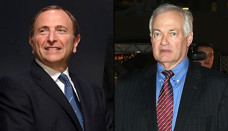 NHL commissioner gary Bettman and NHLPA executive director Don Fehr