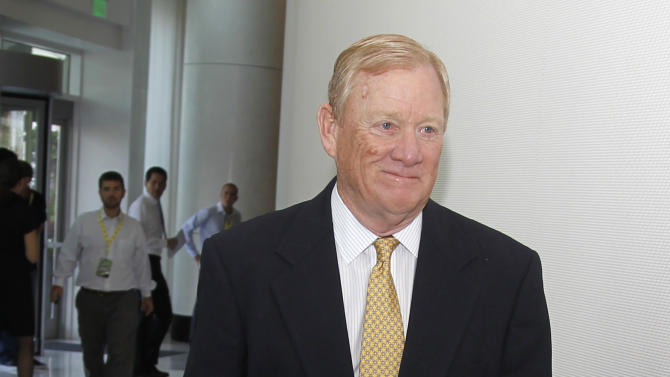 Indianapolis Colts president Bill Polian arrives for an NFL owners labor committee meeting in College Park, Ga., on Thursday, July 21, 2011. (AP Photo/John Bazemore)
