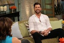 Kit Hoover and guest co-host Chris Harrison interview Maksim Chmerkovskiy on Access Hollywood Live, Burbank, March 5, 2012 -- Access Hollywood