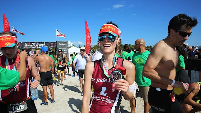 Celebrities Take Part In Life Time South Beach Triathlon
